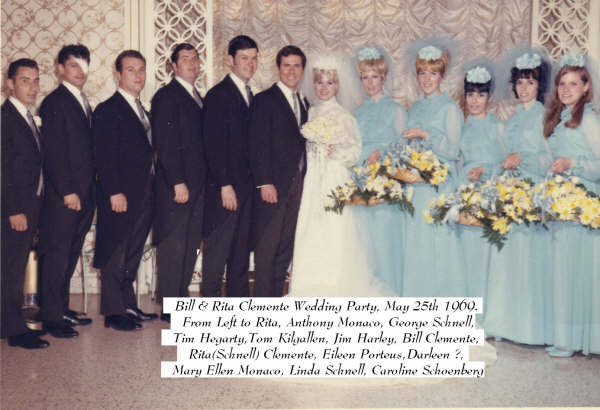 William&RitaClementeWeddingParty1969.jpg